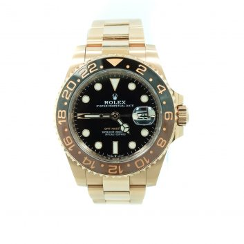 Rolex 40mm GMT Master II 18K Rosé Gold with Black Dial (Root Beer)