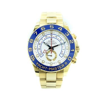 Rolex Yacht Master II, 18k Gold, 44mm, Blue Bezel with White Dial