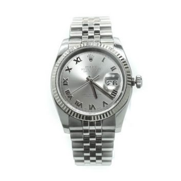 Rolex Datejust 36mm Stainless Steel Roman Numeral Dial